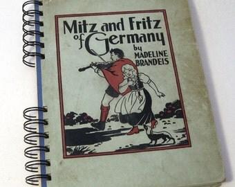 1933 GERMAN TRAVEL JOURNAL Handmade Journal Upcycled Travel Journal Germany