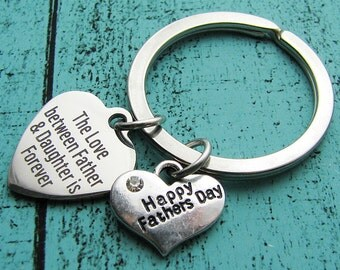 happy fathers day, fathers day gift from daughter, gift for dad, fathers day from daughter, dad keychain, gift for men, dad gift