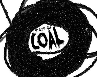 Black as Coal~ YourWaistBeads.com