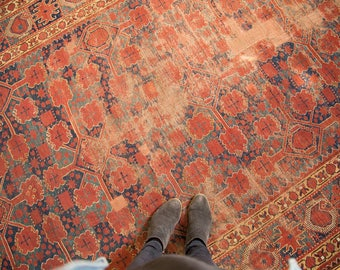 DISCOUNTED 6.5x13 Antique Distressed Beshir Gallery Rug Runner