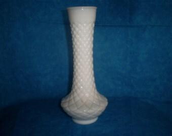 SALE  Set of 4 Vintage, Milk Glass Vases. #6 Was 16.00.