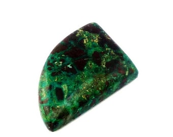 ON SALE Chrysocolla Fancy Cabochon Stone (26mm x 19mm x 7mm) 28cts