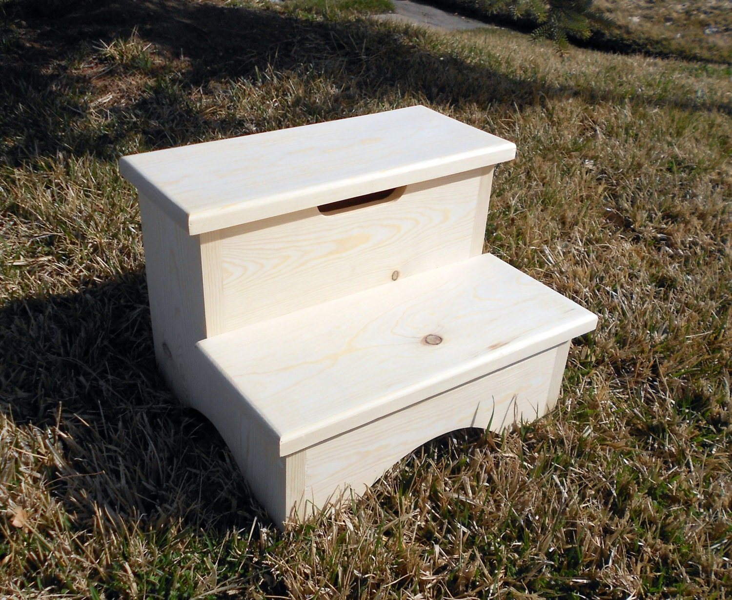 Storage Box Step Stool Unfinshed 12