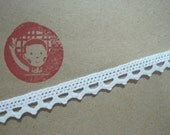 5 yards White Triangle Crochet Lace Trim, Lace Trim, Crochet Lace Trim, White Lace, Lace Trim Ribbon, White trim, sewing tape, wedding lace