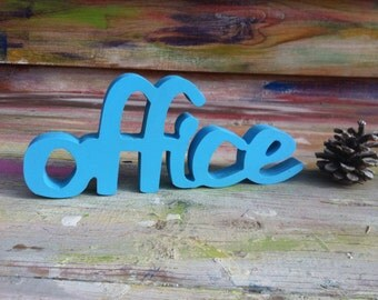Office wood sign, office sign, door sign office, wooden letters office,  rustic wood sign office, office decor, office wall art, office wall