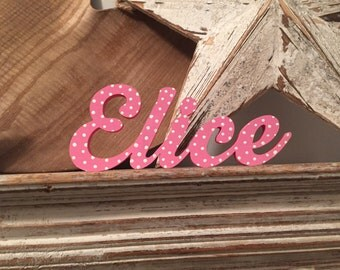 Personalised Wooden Name Sign - For Doors, Walls, Etc, Any Colour, Price per letter - 7cm high