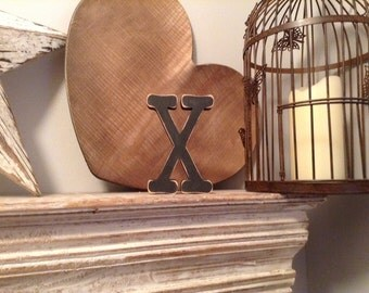 Hand-painted Wooden Letter X - Freestanding - Typewriter Font - Various sizes, finishes and colours - 30cm