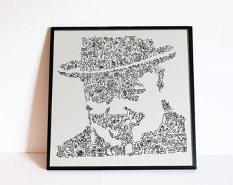 Winston Churchill poster - Historical Portrait based on the biography - Limited Edition of 100 Prints - Fine Art Print