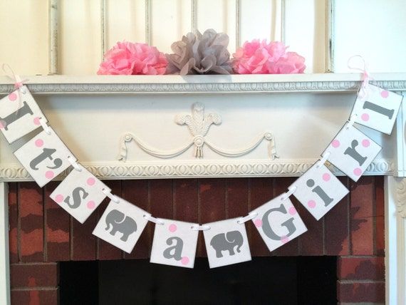 elephant baby shower decorations pink and gray baby shower