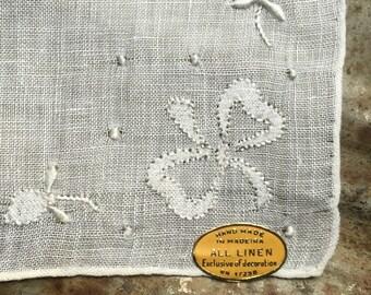 Vintage Unused Madeira Handkerchief 1323