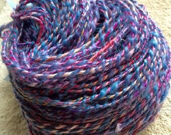 Hand Spun Art Yarn - Soy Silk - Alpaca - 135 Yards - 2 Ply