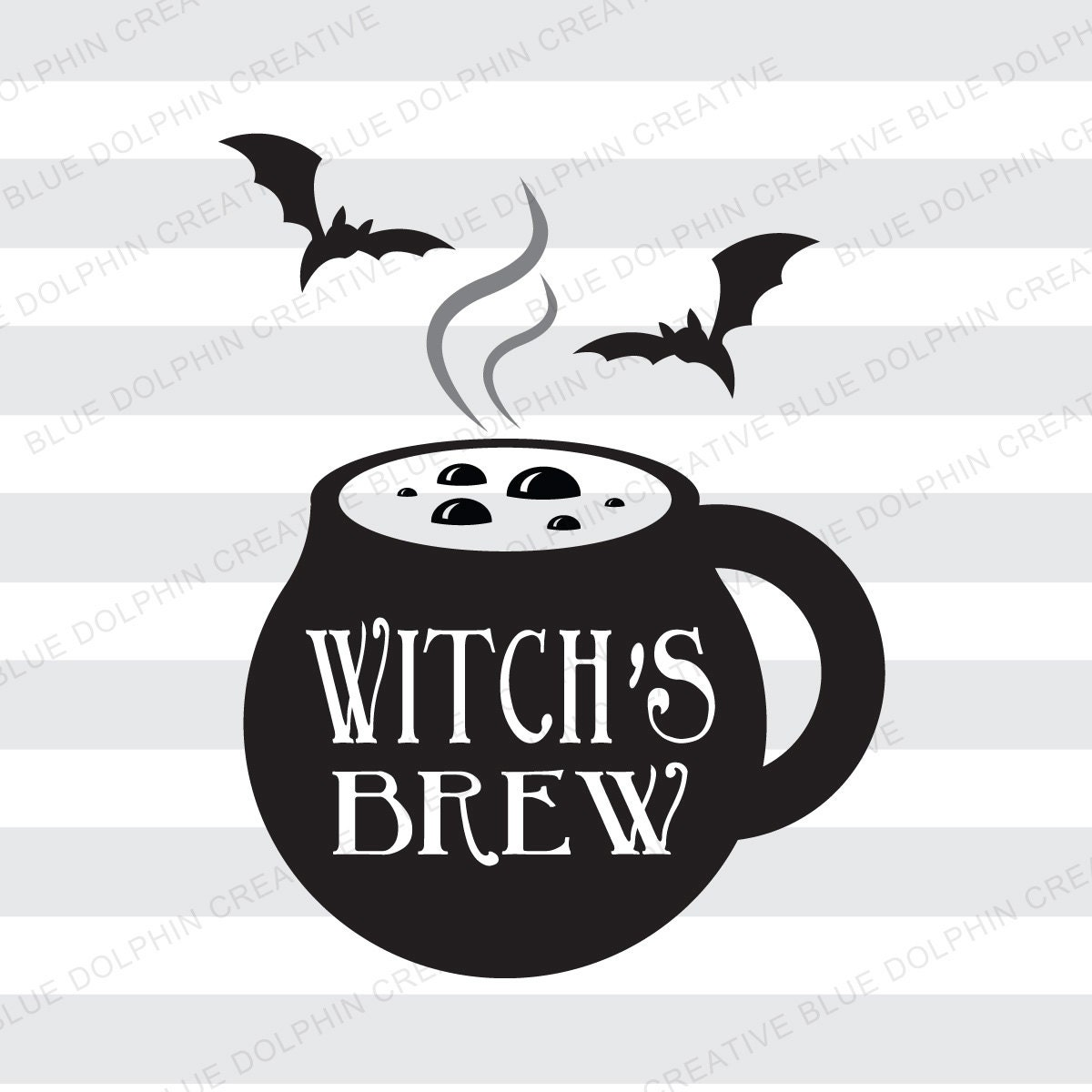 Witch's Brew coffee cup SVG DXF png pdf / Halloween coffee