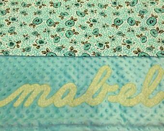Personalized Minky Blanket