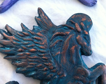 Animal Angels: Horse (Choose finish - copper/gold/silver - brown/purple/sienna/turquoise)