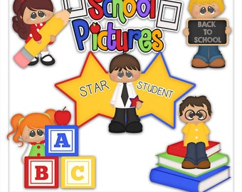 Back to School Picture Day 1 Clipart (Digital Zip Download)