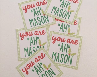 Ready to Ship, Mason Jar, Gift tags, gifts, Christmas, Teacher, holiday tags
