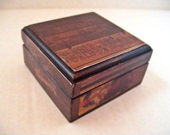 Shipping Crates Trinket Box Decoupaged
