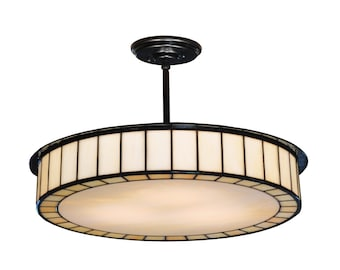 Pendant Light Fixture - Great for Dining Rooms , Kitchens  and Hallways.  Made from hand rolled stain glass.