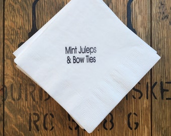 Kentucky Derby / Beverage Napkins / Mint Juleps /  Set of 50 / horseshoe / Derby Party