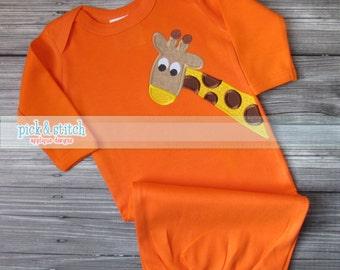 Giraffe Applique Design Machine Embroidery INSTANT DOWNLOAD