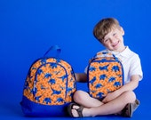 Personalized Toddler Backpacks in Dino Mite , kids backpack, personalized backpack, monogram