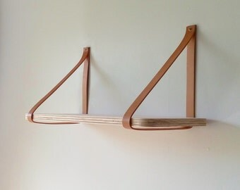 Objectify Plywood/Leather Strap Shelf - Large