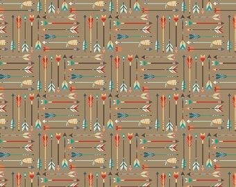 1/2 yard LAMINATED cottonfabric - 18 x 40 - Tribal Arrows EXCLUSIVE - Approved for children's products
