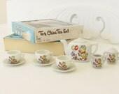 Vintage Toy Child's China Tea Set Chick Dog Japan 1960s