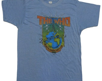 The Who North American Tour Shirt 1979 Vintage Concert Tee 70s Rare Vtg Rock TShirt 1970s