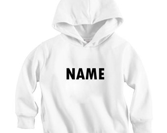 Print any NAME - Long sleeve Hoodie Shirt (Baby / Infant / Toddler / Children's)