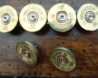 WINCHESTER 12 Gauge Shotgun Shell Bullet French Hair Barrette Clip + Earrings