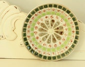1960's Hand Made Ceramic Ashtray - Green and Brown Hobby Shop Bowl - Vintage tile work