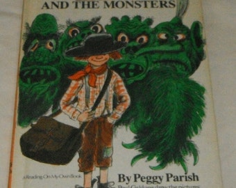 Zed and The Monsters by Peggy Parish Vintage Hardcover Book