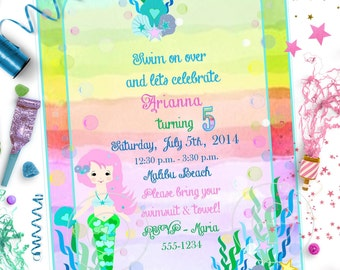 Little MERMAID Under the Sea INVITATION ~ Personalized Printable Download