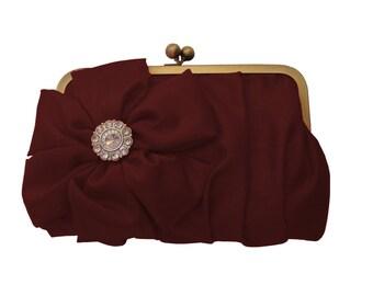 Maroon formal clutch, Bridesmaid custom clutches, Wedding clutches, Bridesmaid gifts