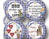 "30% OFF SALE Mother, Mom Sayings, Digital Collage Sheet, Bottle Cap Images, 1 Inch Circles, Printable, Instant Download (No.1) 1"" Circles, M"