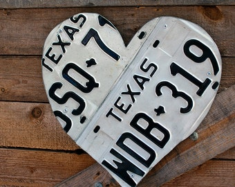Texas License Plate Heart
