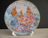 Vintage Avon 1992 Easter Collector Plate and Holder
