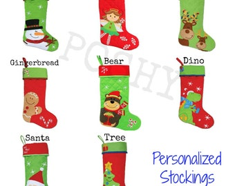 Kids Personalized Holiday Christmas Stocking by Stephen Joseph Stockings