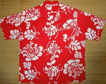 Mens Vintage 60s Elvis Floral Hawaiian Aloha Shirt - XL -  The Hana Shirt Co