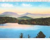 Lake Lanier, Blue Ridge Mountains, North Carolina, South Carolina - Linen Postcard - Unused (VV)