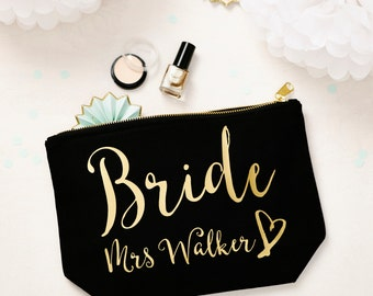 Personalised Bride Make Up Pouch