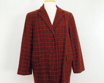 SALE // Pendleton Wool Jacket // Car Coat // Plaid Blazer