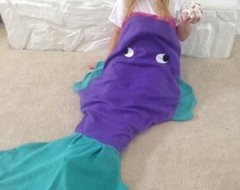 Fleece Fish Blanket Sleeping Bag with Beautiful Tail