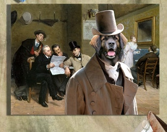 Leonberger Art CANVAS Print Fine Artwork of Nobility Dogs Dog Portrait Dog Painting Dog Art Dog Print