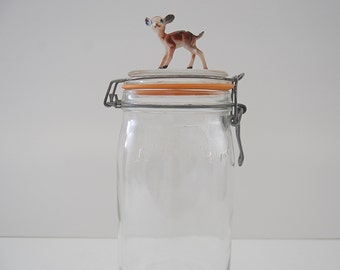 Vintage Canning Jar, Le Parfait Jar, French Jar,  Large Kitchen Storage Jar, Made in France