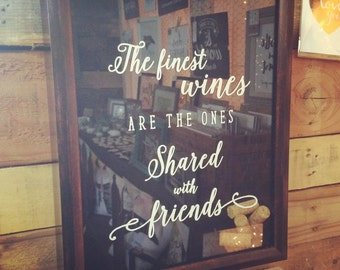 11x14 Wine Cork Holder with Quote — Frame Shadowbox