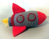 Rocket Ship amigurumi crochet toy (ONE 8 inch) Sky Rockets in Flight