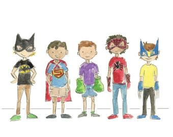 Superhero's Watercolor