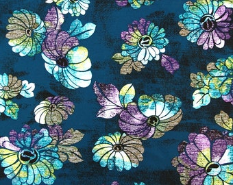 C272- 140cmx100cm Soft Cotton  Fabric for Cloth - Colorful flowers